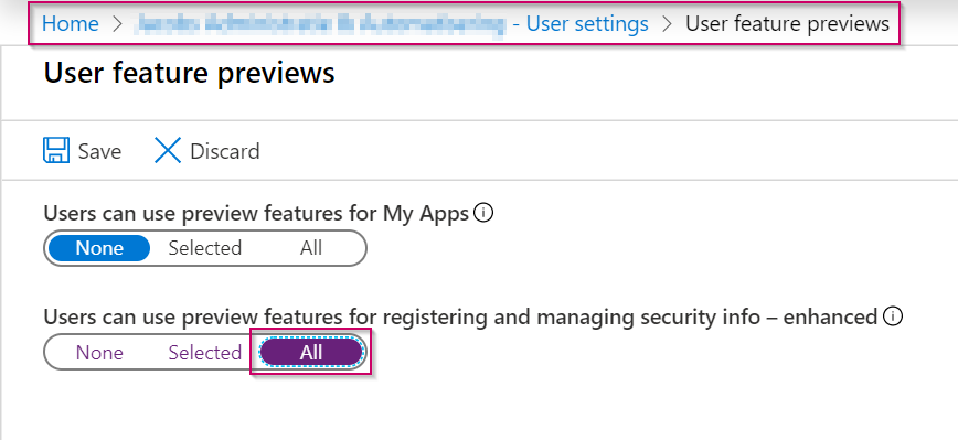 2019-12-09 14_19_41-User feature previews - Microsoft Azure